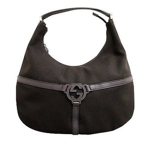 Gucci Canvasleather Rein Hobo Shoulder Bag