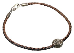 Gucci Gucci Woven Leather Bracelet Whysteria Crest Brown 21 270577