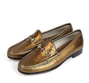 Gucci 1953 Soft Leather Bronze Flats