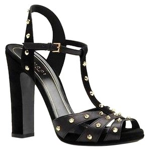 Gucci Jacquelyne Studded Black Pumps
