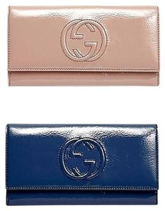 Gucci Gucci Soho Soft Patent Leather Continental Clutch Wallet 282414