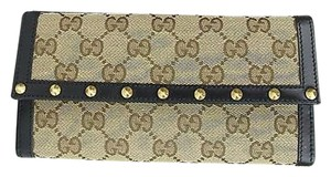 Gucci Gucci,Original,Gg,Canvas,Studded,Continental,Wallet