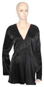 St. John Caviar Evening Tunic Top Black