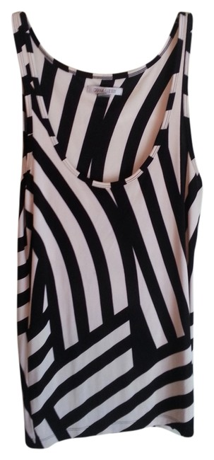 Preload https://item5.tradesy.com/images/black-and-white-stripe-tank-topcami-size-8-m-933989-0-0.jpg?width=400&height=650