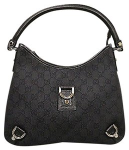 Gucci Denimleather Abbey Hobo Shoulder Bag