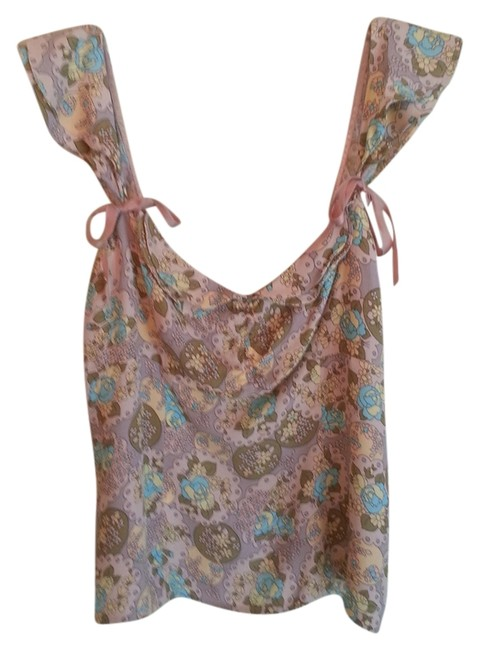 Preload https://item5.tradesy.com/images/nanette-lepore-pink-and-tan-tank-topcami-size-8-m-934029-0-0.jpg?width=400&height=650