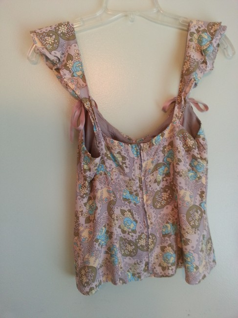 Nanette Lepore Top Pink and Tan