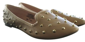 Topshop Gold Studded Strawberry Fields Nude Flats