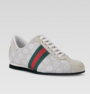 Gucci Icon Leather White Flats