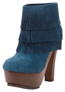 Blonde Ambition Blue Platforms