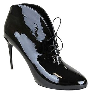 Gucci Patent Leather Ankle Black Boots