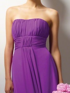 Alfred Angelo Purple Chiffon Style 7093 In Violet Modern Bridesmaid/Mob Dress Size 16 (XL, Plus 0x)