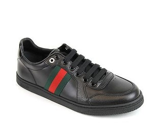 Gucci Womens Leather Sneaker Black Flats