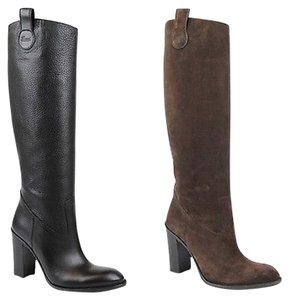 Gucci Leathersuede Tall Knee Boots