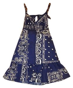 Guess short dress Navy Bandana on Tradesy