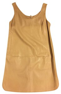 Vince short dress Beige leather on Tradesy