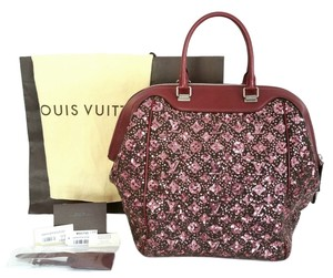 Louis Vuitton Luggage Sequins Tote in Burgundy