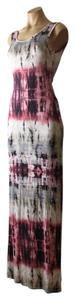 Berry White Light Grey Tie Dye Maxi Dress by Sugarmint Multicolor