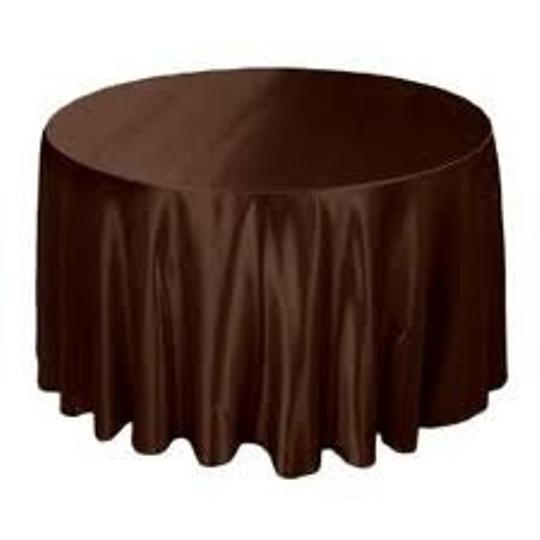 Brown Satin Tablecloth