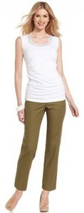 Grace Elements Ankle Straight Pants Green