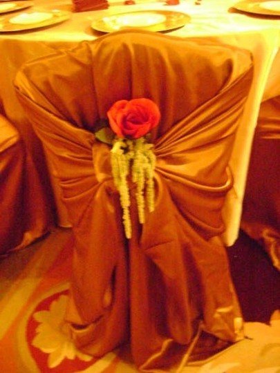 Bronze Universal Satin Chair Covers 250 Available Ceremony Decoration