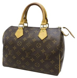Louis Vuitton Lock And Key Monogram Satchel in Brown