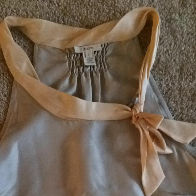 J.Crew Top Grey + Peach