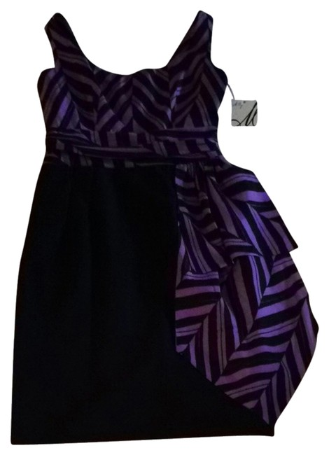 Preload https://item2.tradesy.com/images/milly-dress-purple-black-934491-0-0.jpg?width=400&height=650