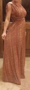 Multi orange/gold Maxi Dress by Chelsea & Violet