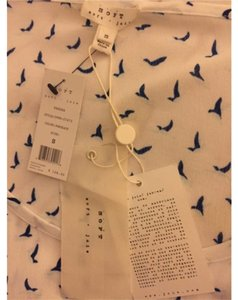 Joie Top White with blue print