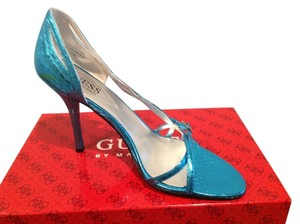 Guess By Marciano Pattern Blue Snake Sandals
