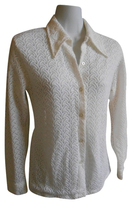 Preload https://item3.tradesy.com/images/white-vintage-60s-70s-sweater-excellent-condition-knit-with-lining-blouse-size-12-l-934757-0-0.jpg?width=400&height=650