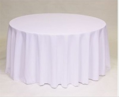 6 120 inch round white polyester table linens 13 off for 120 round white table linens