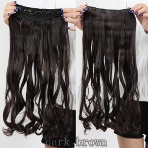 Reduced Full Head Long Curly Hair Extension Free Shipping