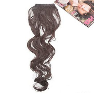 Reduced 2 Clip Black Long Curly Hair Extension Free Shipping