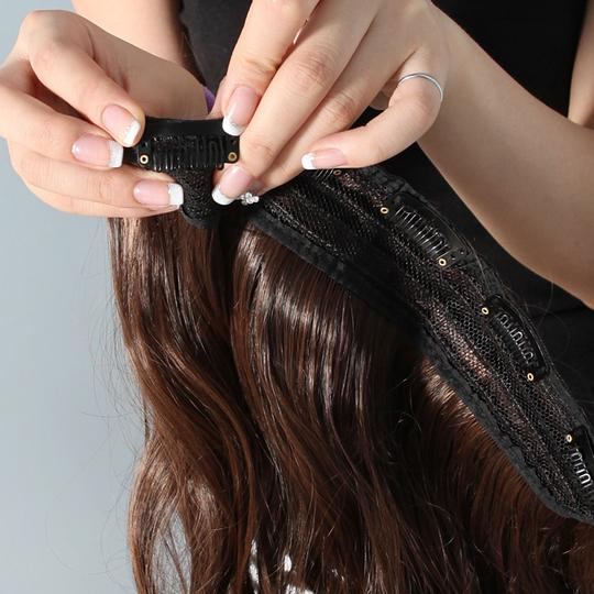 Black Bogo Free 1pc Two Clip Extension Free Shipping Hair Accessory