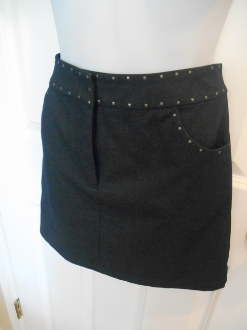 A|X Armani Exchange Denim Jean Nice Pockets Studs 6 Small 32 Dressy Offiw Office Club Night Out Date Night Party Dress Up Work Summer Skirt Blue