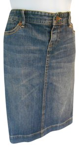 Banana Republic Jean Skirt Blue Denim