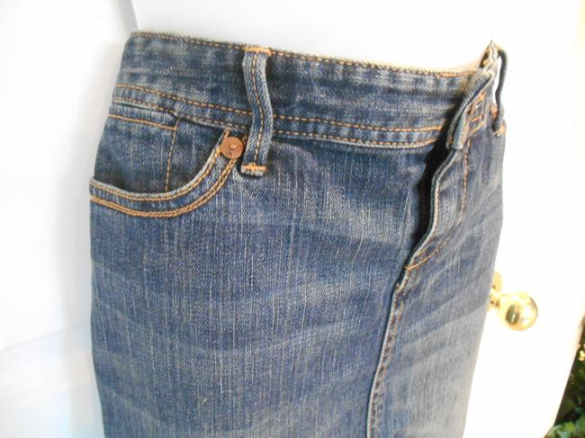 Banana Republic Jean Classic Campus Summer Summer Office Work Casual Night Out Essential Wardrobe Basic Must Have Skirt Blue Denim