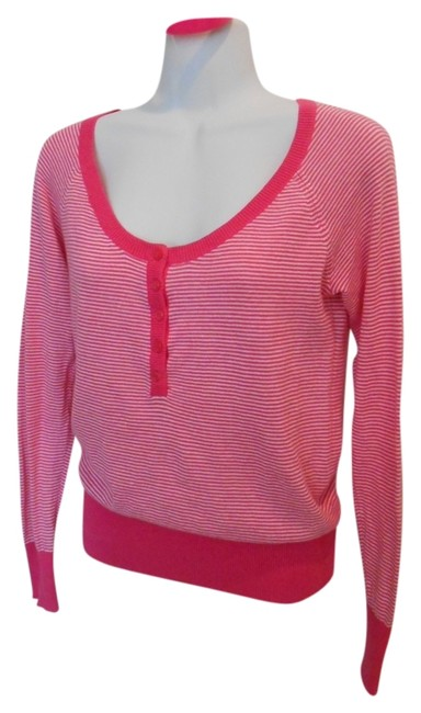 Old Navy Long Sleeve Bangle Shirt Henley Campus Casual Bright Strip Striped Sweater