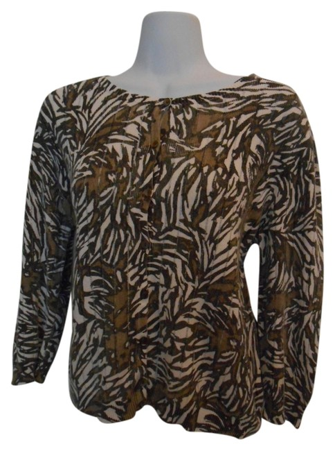 Preload https://item4.tradesy.com/images/chico-s-cream-with-browns-ml-jungle-cardigan-linen-blend-sweaterpullover-size-10-m-934993-0-0.jpg?width=400&height=650