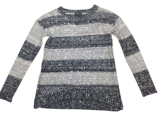 Preload https://item2.tradesy.com/images/black-and-gray-sequin-stripes-sweaterpullover-size-4-s-935001-0-0.jpg?width=400&height=650