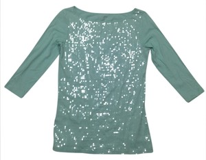 Ann Taylor LOFT Sequin Top Mint