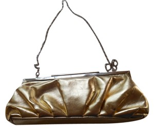 Lulu Townsend Evening Purse Gold Metallic Clutch