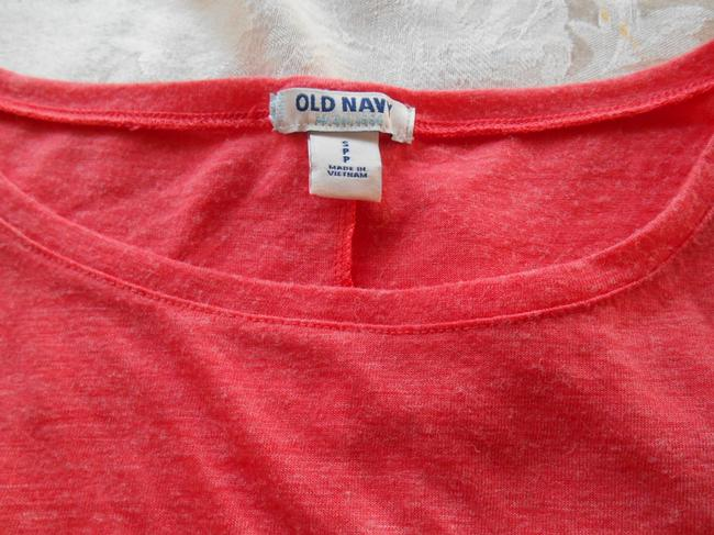 Old Navy T-shirt Long Sleeve Small 4 6 8 Layers T Shirt Coral