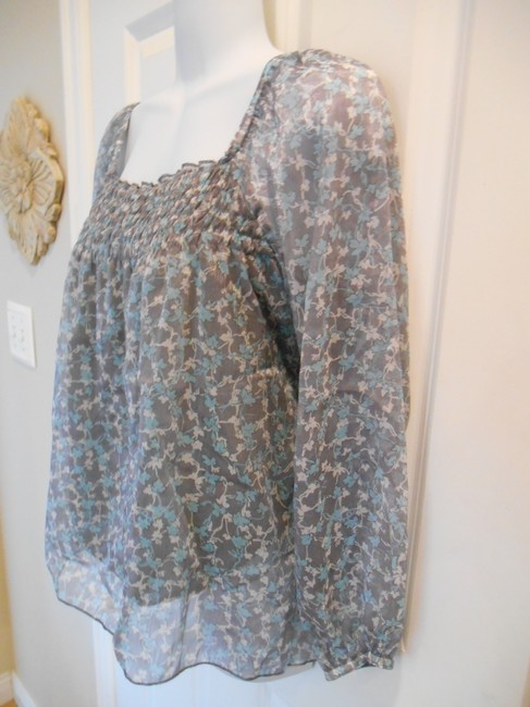 American Rag Floral Shirt Lined Flowy Feminine Pretty Ethnic Print Patter Pattern Cie Summer Tunic