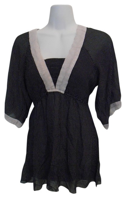 Preload https://item3.tradesy.com/images/angie-black-with-white-polka-dot-tunic-l-14-tee-shirt-size-12-l-935237-0-0.jpg?width=400&height=650