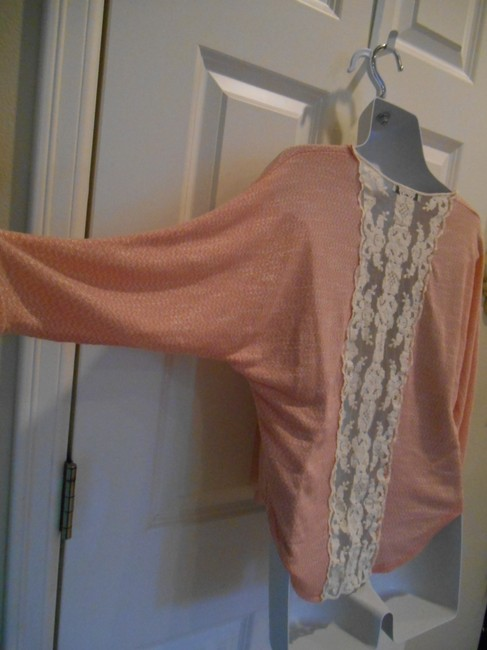 Papaya Back Back Soft Junior Trend Summer School Campus Medium 8 10 Med Med Medium M T Shirt Peachy pink with cream lace