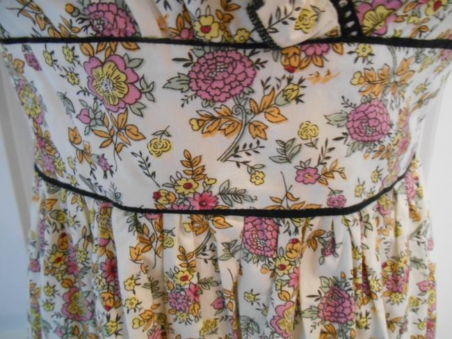 Fire short dress Cream with multi-colors Sun Floral Print Print on Tradesy