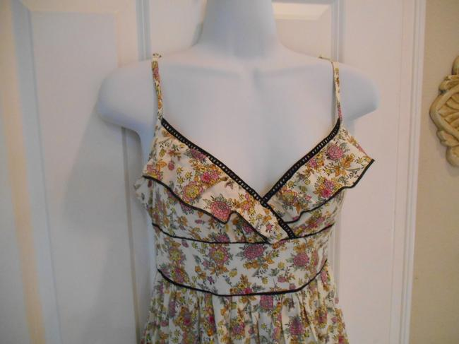 Fire short dress Cream with multi-colors Sundress Floral Print Print on Tradesy